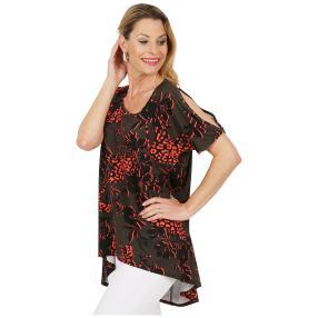 CANDY CURVES Longshirt khaki, koralle, schwarz