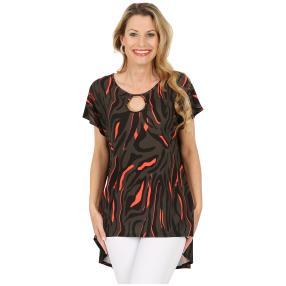 CANDY CURVES Shirt mit Schmuckelement multicolor