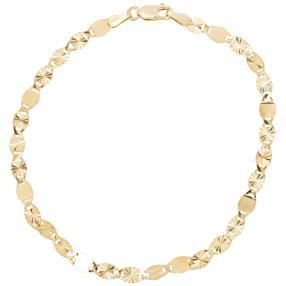 Fantasiearmband Valentino 585 Gold, ca. 19 cm