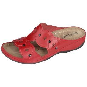 Dr. Feet Damen Lederpantolette, rot