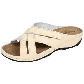 Dr. Feet Damen Lederpantolette, beige