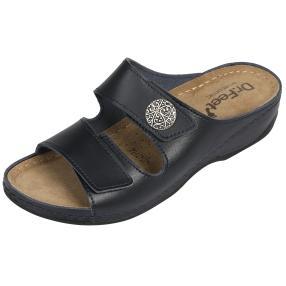 Dr. Feet Damen Lederpantolette, dunkelblau