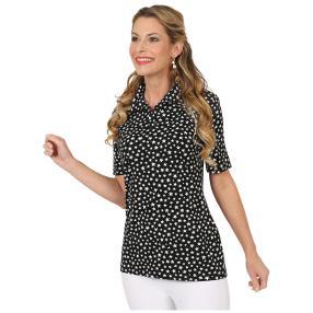 RÖSSLER SELECTION Damen-Shirt 'Stars' schwarz/weiß