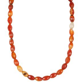 Collier Achat rot ca. 180 ct