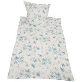 CoolSummer Bettwäsche 2-teilig. blau-weiß floral