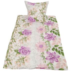 CoolSummer Bettwäsche 2-teilig, lila-grün floral