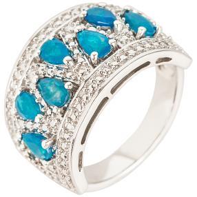 Ring 925 Sterling Silber rhodiniert Opal