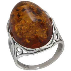 Ring 925 St. Silber Bernstein Größe 18