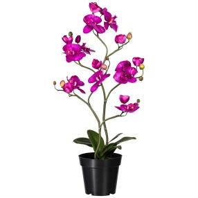 Orchidee lila, 75 cm, real-touch
