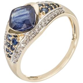 Ring 585 Gelbgold Saphir behandelt