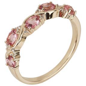 Ring 375 Gelbgold Turmalin pink