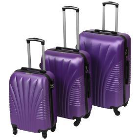 Trolleyset 3-teilig Hartschale violett