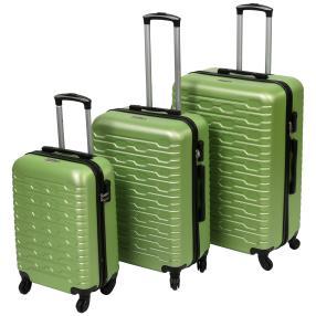 Trolleyset 3-teilig Hartschale neon grün