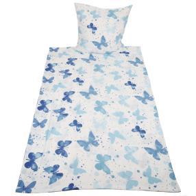 AllSeason Bettwäsche 2tlg. blaue Schmetterlinge