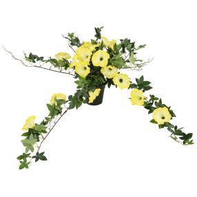 Petunie im Topf, gelb, 50 cm