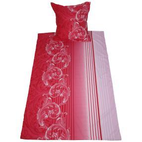AllSeasons Bettwäsche 2-teilig, rot-pink-weiß