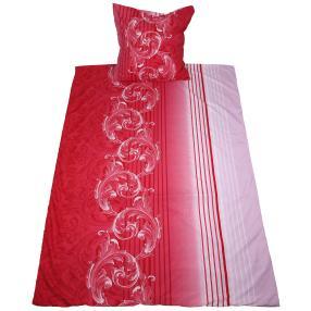 AllSeason Bettwäsche 155x220 cm, Ornament weiß-rot