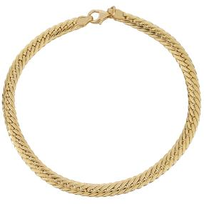 Heringbone Armband 585 Gelbgold