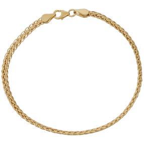 Zopfarmband 585 Gelbgold
