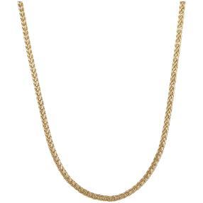 Zopfkette 585 Gelbgold
