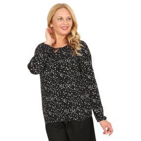 BLUE SEVEN Damen-Blusenshirt schwarz/weiß