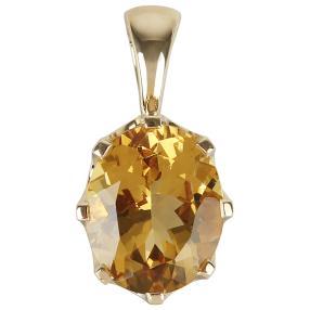 STAR Clipanhänger 585 Gelbgold AAA Aquamarin gelb