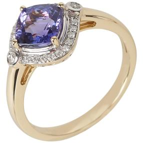 STAR Ring 585 Gelbgold, AAAA Tansanit, ca. 1,62 ct