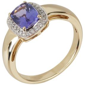 STAR Ring 585 Gelbgold, AAAA Tansanit, ca. 0,11 ct