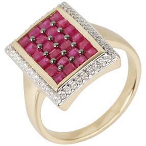 STAR Ring 585 Gelbgold Rubin Thailand