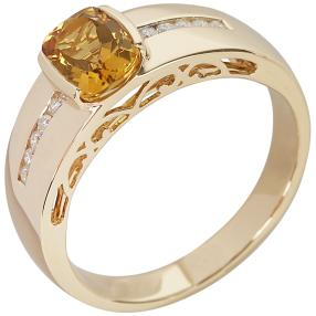 STAR Ring 585 Gelbgold AAA Aquamarin gelb