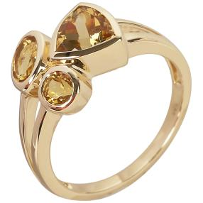STAR Ring 585 Gelbgold AAA Aquamarin gelb