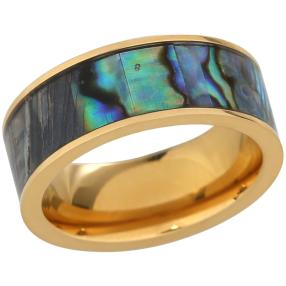 Ring Titan vergoldet Abalone