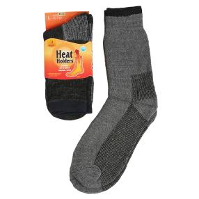 2er Pack Herren-Heat-Holders-Socken schwarz/grau