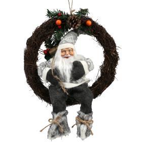 Türkranz Weihnachtsmann, grau