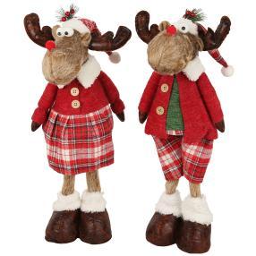 Weihnachts-Elche wackelnd 2er-Set 50cm