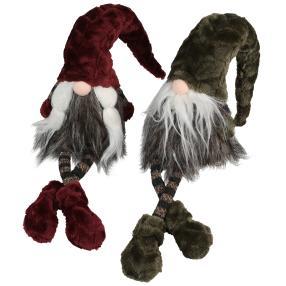 Gnome Kantenhocker 2er-Set, rot-grün 14cm