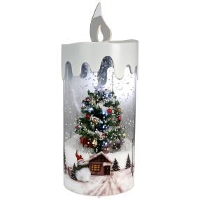 Schneiender LED Weihnachtsbaum 36cm