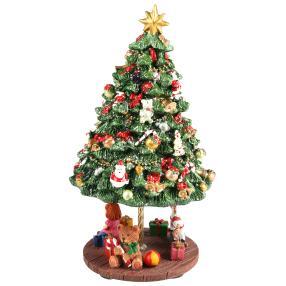 Spieluhr Weihnachtsbaum, drehend