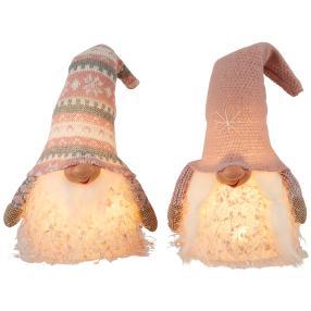 LED Gnome rosa 2er-Set