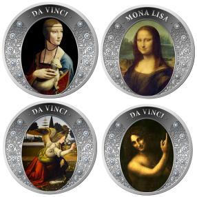 Leonardo da Vinci Set mit 50 Edelsteinen