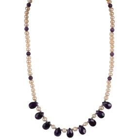 Collier  Perle + Amethyst