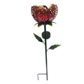 Solar LED-Blume rot