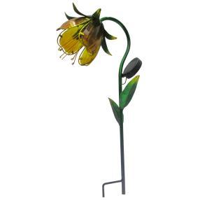 Solar LED-Blume 'Lilie' gelb