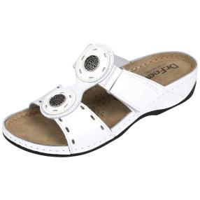 Dr. Feet  Damen Lederpantolette, weiß