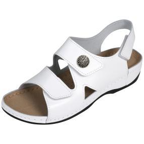 Dr. Feet Damen-Sandalen weiß