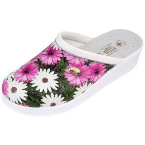 SANITAL LIGHT Damen-Lederpantolette, multicolor