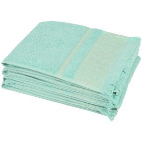 Handtuch mit Fransen, 4er Set mint