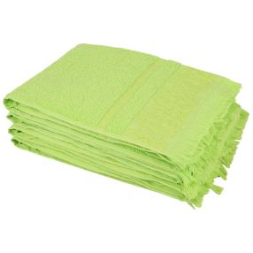 Handtuch 4tlg. grün Fransen 50x100 cm