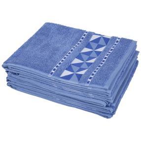 Handtuch 4tlg. grafisch blau 50x100 cm