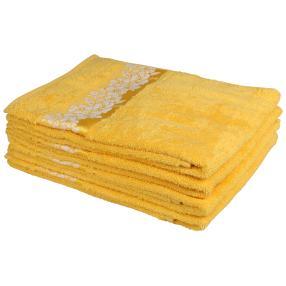Handtuch 4tlg. floral gelb 50x100 cm